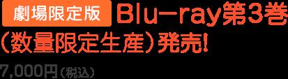 上映劇場にて上映初日より劇場限定版Blu-ray第3巻(数量限定生産)発売!7,000円(税込)